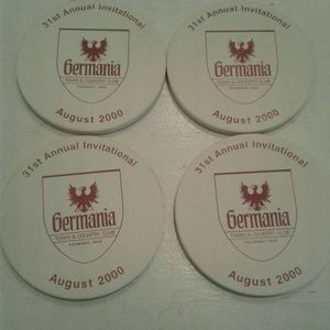Other - Germania Town and Country Club Saginaw MI Coasters